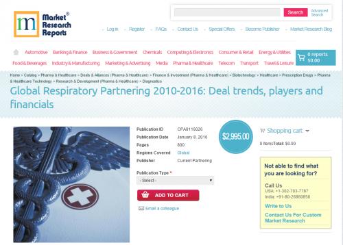 Global Respiratory Partnering 2010-2016'