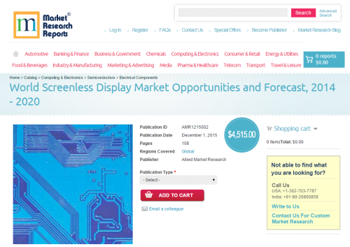World Screenless Display Market Opportunities and Forecast'