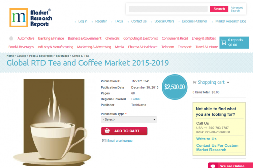 Global RTD Tea and Coffee Market 2015 - 2019'