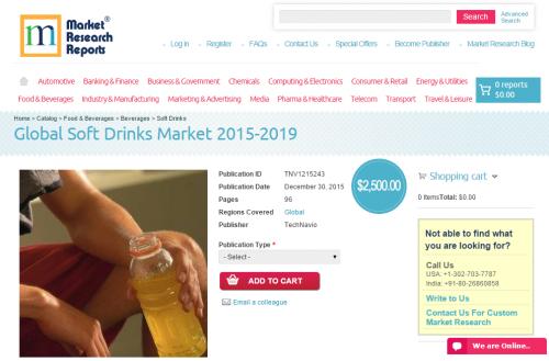 Global Soft Drinks Market 2015 - 2019'