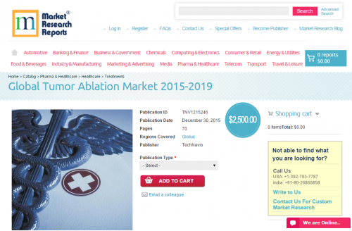 Global Tumor Ablation Market 2015 - 2019'