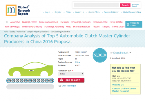 Company Analysis of Top 5 Automobile Clutch Master Cylinder'