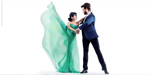 Ballroom dancer Mairi Bettin with husband and partner Tommy'
