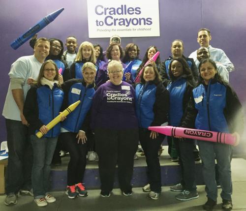 ImageFIRST Team at Cradles to Crayons'