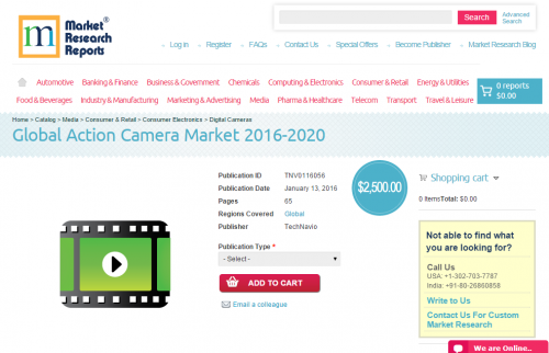 Global Action Camera Market 2016 - 2020'