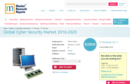 Global Cyber Security Market 2016 - 2020'