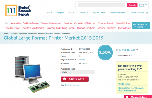 Global Large Format Printer Market 2015 - 2019'