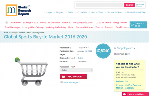Global Sports Bicycle Market 2016 - 2020'