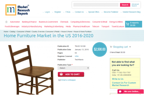 Home Furniture Market in the US 2016 - 2020'