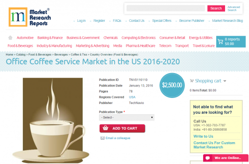 Office Coffee Service Market in the US 2016 - 2020'