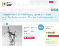 Switchgear Market for Power Industry, Update 2015