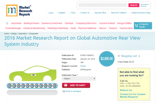 2016 Market Research Report on Global Automotive Rear'