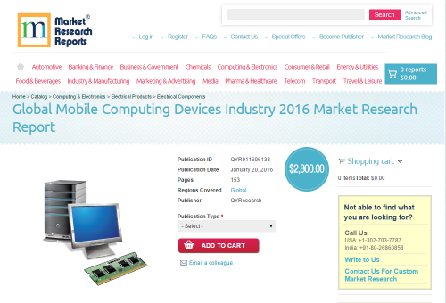 Global Mobile Computing Devices Industry 2016'