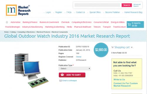 Global Outdoor Watch Industry 2016'
