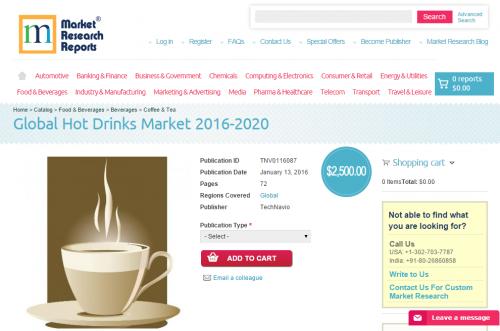 Global Hot Drinks Market 2016 - 2020'