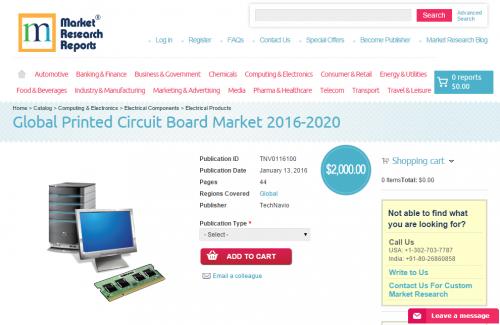 Global Printed Circuit Board Market 2016 - 2020'