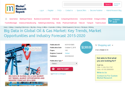 Big Data in Global Oil & Gas Market'