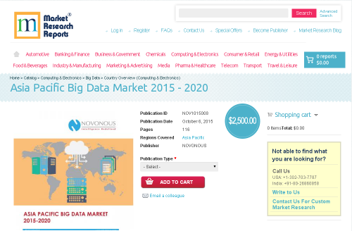 Asia Pacific Big Data Market 2015-2020'