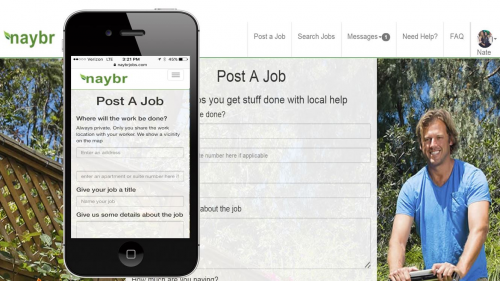 Post an Odd Job Easily from your phone or computer'