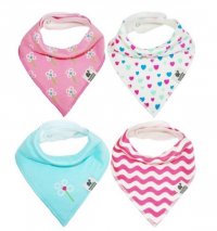 Wobbly Noddle Bandana Bibs on Amazon