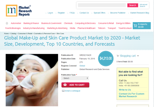 Global Make-Up and Skin Care Product Market to 2020'