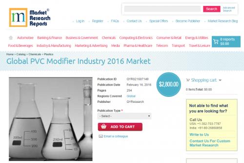 Global PVC Modifier Industry 2016 Market'