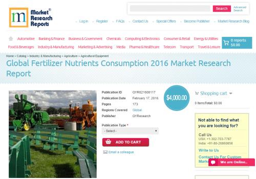 Global Fertilizer Nutrients Consumption 2016'