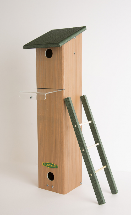 Songbird House and Roosting Box Includes a Removable Ladder'