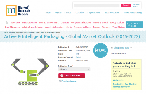 Active & Intelligent Packaging - Global Market Outlo'
