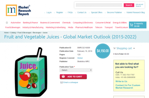 Fruit and Vegetable Juices - Global Market Outlook'