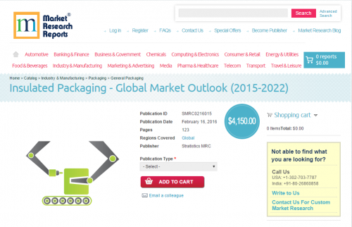 Insulated Packaging - Global Market Outlook (2015-2022)'