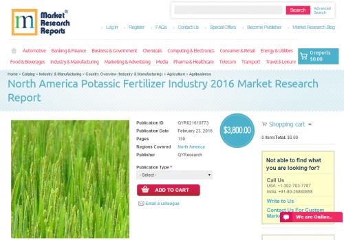 North America Potassic Fertilizer Industry 2016'