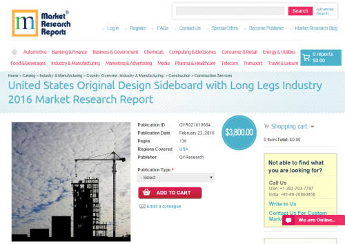 United States Original Design Sideboard with Long Legs'