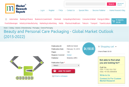 Beauty and Personal Care Packaging - Global Market Outlook'