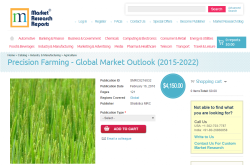 Precision Farming Global Market Outlook 2015 - 2022'