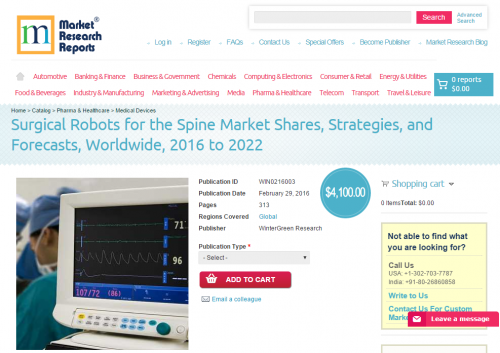 Surgical Robots for the Spine Market Shares, Strategies'