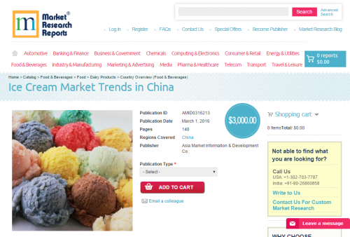 Ice Cream Market Trends in China'
