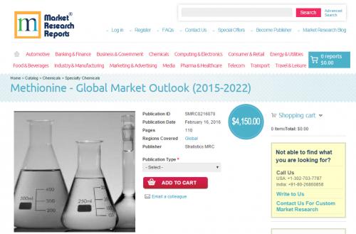 Methionine Global Market Outlook 2015 - 2022'
