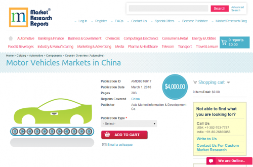 Motor Vehicles Markets in China'