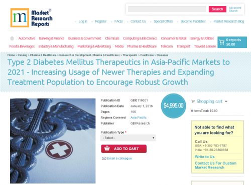 Type 2 Diabetes Mellitus Therapeutics in Asia-Pacific Market'