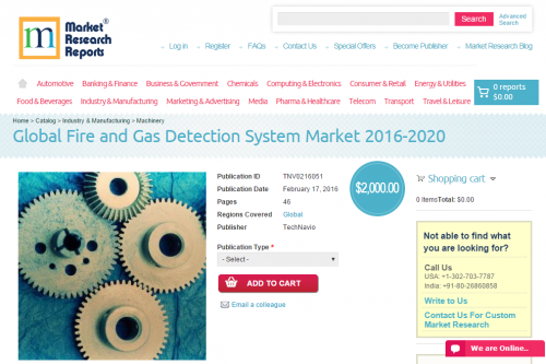 Global Fire and Gas Detection System Market 2016 - 2020'