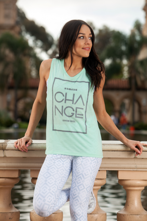 Teal Change Muscle Tee Proves 12 Meals'