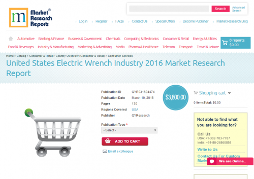 United States Electric Wrench Industry 2016'