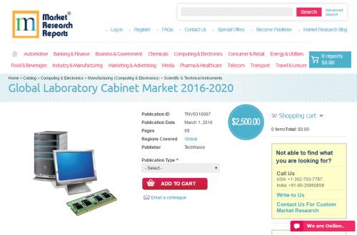 Global Laboratory Cabinet Market 2016 - 2020'