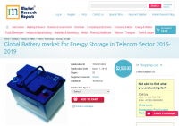 Global Battery market for Energy Storage in Telecom Sector 2