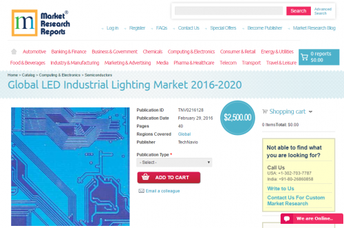 Global LED Industrial Lighting Market 2016 - 2020'