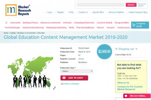 Global Education Content Management Market 2016 - 2020'