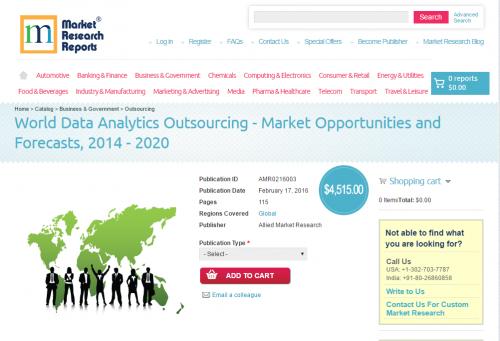World Data Analytics Outsourcing - Market Opportunities'