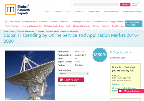 Global IT spending by Online Service and Application Market'