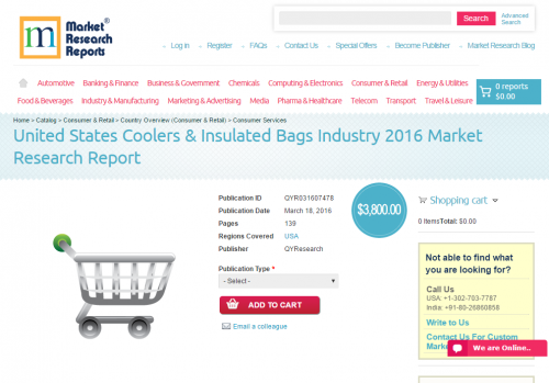 United States Coolers & Insulated Bags Industry 2016'